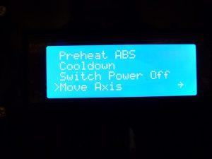 Best Way to Calibrate a 3d Printer : initial menu bottom