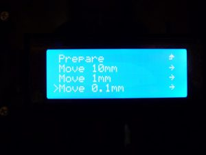 Best Way to Calibrate a 3d Printer : move axis res