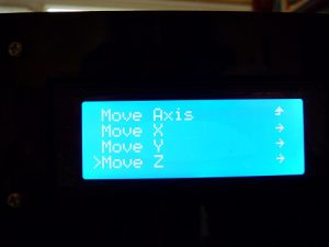 Best Way to Calibrate a 3d Printer : move axis menu