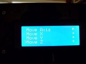 Best Way to Calibrate a 3d Printer : move axis menu