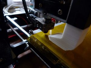 Best Way to Calibrate a 3d Printer : 2nd back corner