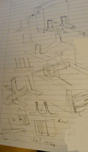 3d printer project ideas: initial sketches