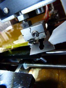 3d print failur : nozzle touching blade