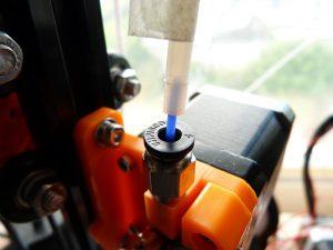Bowden tube on a 3d printer: refitting