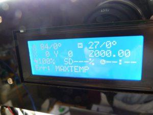 3d printer problems maxtemp error