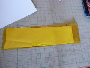 linen with kapton tape
