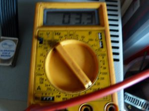 heater multimeter measurement