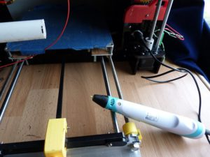 anet a8 mods: 3d pen into auxilliary connector