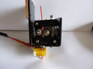 extruder assembly removed from printer
