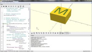 openscad letter box