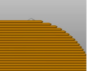 example of stair casing in slicer